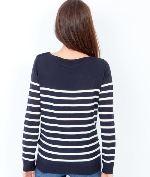 Pull en maille à rayures, style marinière