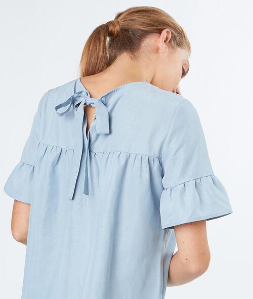 Back-tie blouse
