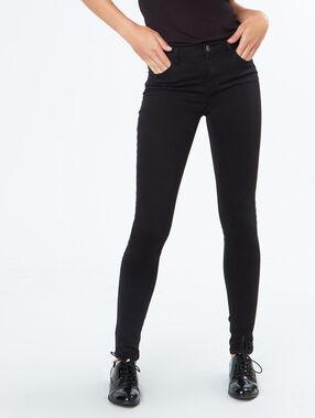Cotton slim pants black.
