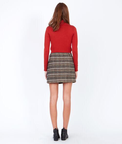 Jupe à carreaux en laine