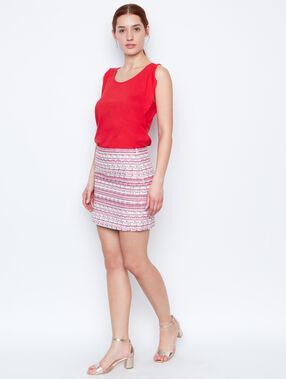 Tube skirt red.