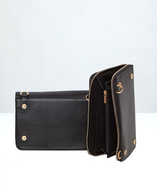 Sac pochette avec portefeuille indépendant