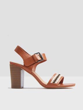 Sandales à talons savane.