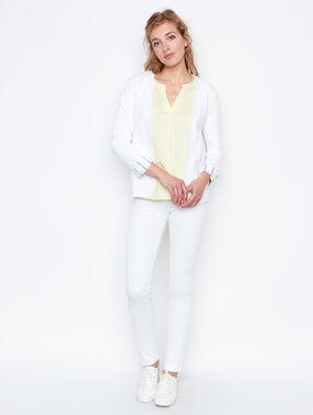 Veste blazer en coton blanc.