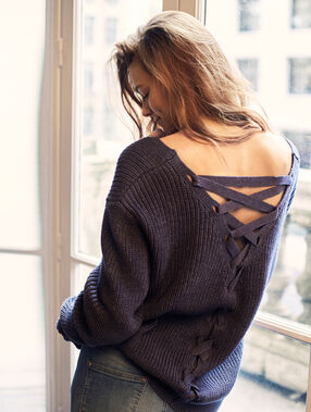Knit sweater blue.