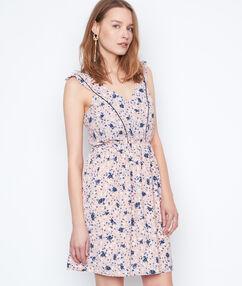 Vestido holgado estampado floral c.nude.