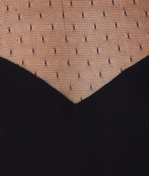 T-shirt manches courtes, empiècement dentelle
