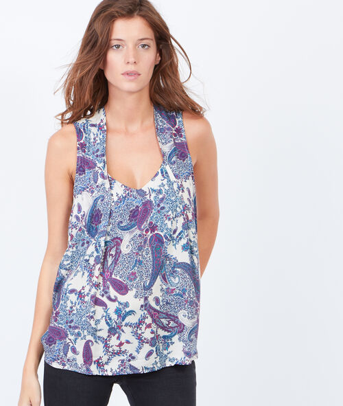 Cashmere print sleeveless top