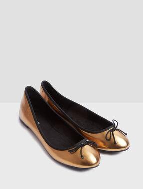 Ballet flats copper.