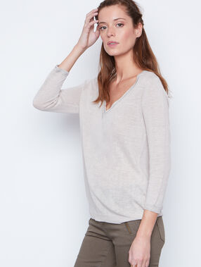 Linen sweater beige.