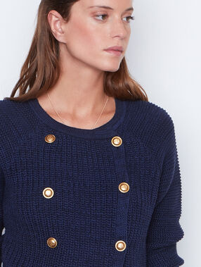 Strickjacke marineblau.