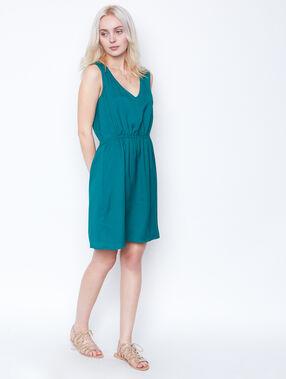 Sleeveless dress emeraid.