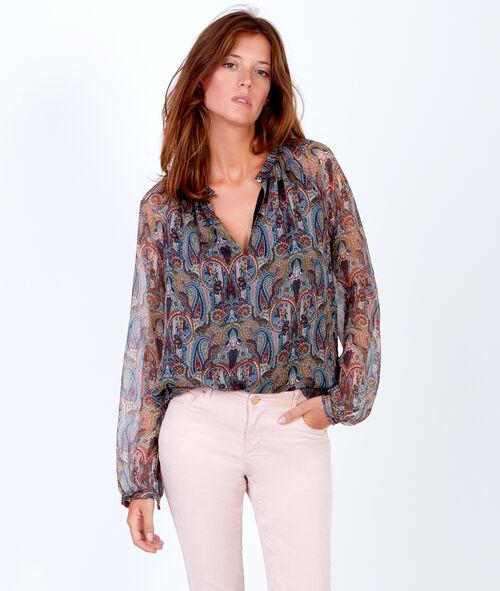 Cashmere print blouse
