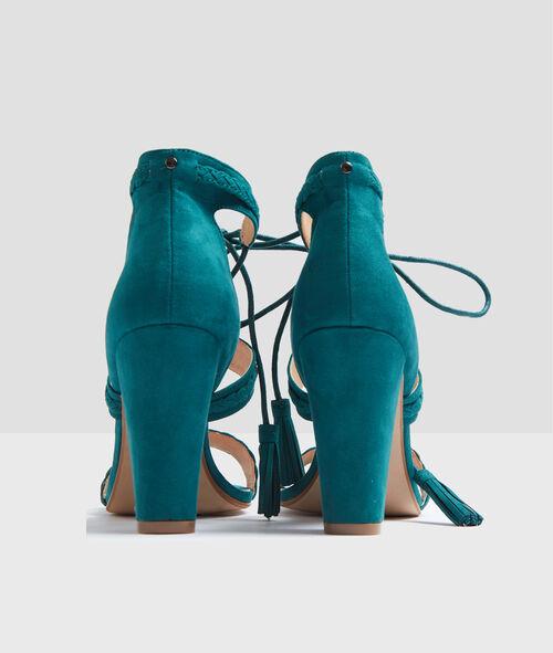 Sandales à talons lacées