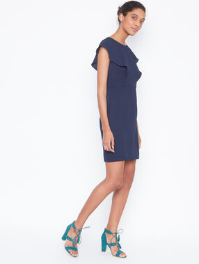Structured dress navy.