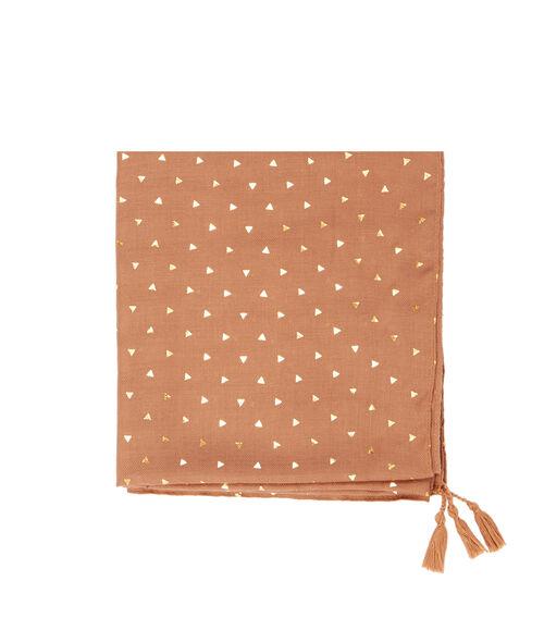 Triangle print scarf