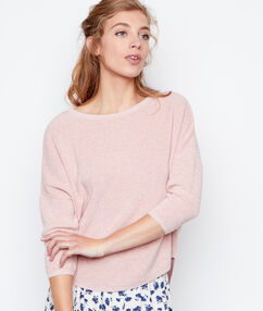 3/4 sleeves sweater blush.