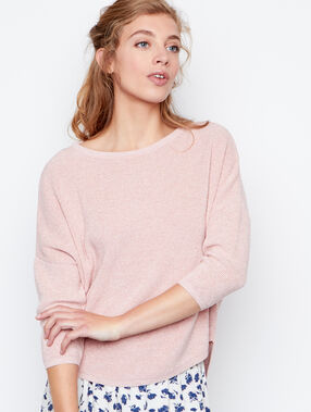 3/4 sleeves sweater blush.