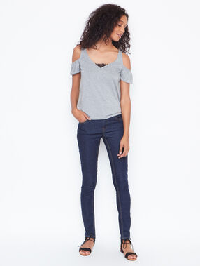 Short sleeves top grey.