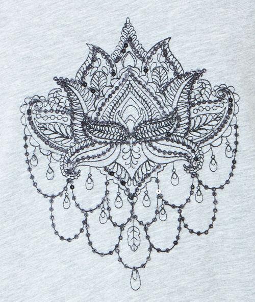 T-shirt à manches courtes, imprimé tatouage
