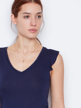 Sleeveless top navy.