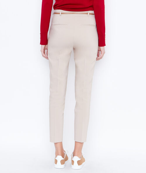 Belted cigarette trousers