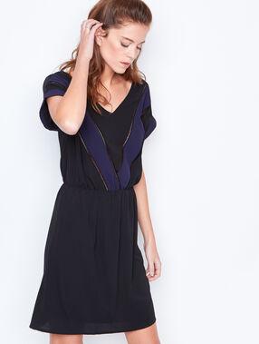 Robe formelle bicolore noir.