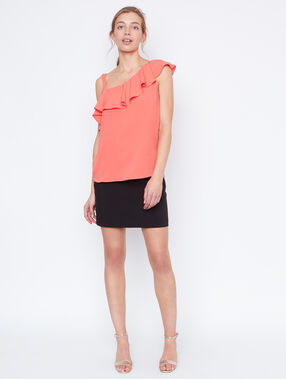 Sleeveless top coral.
