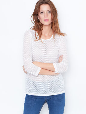 3/4 sleeve lace top white.