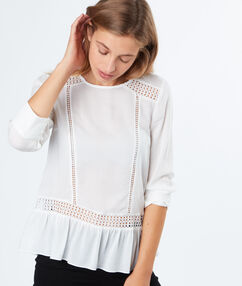 3/4 sleeves blouse off-white.
