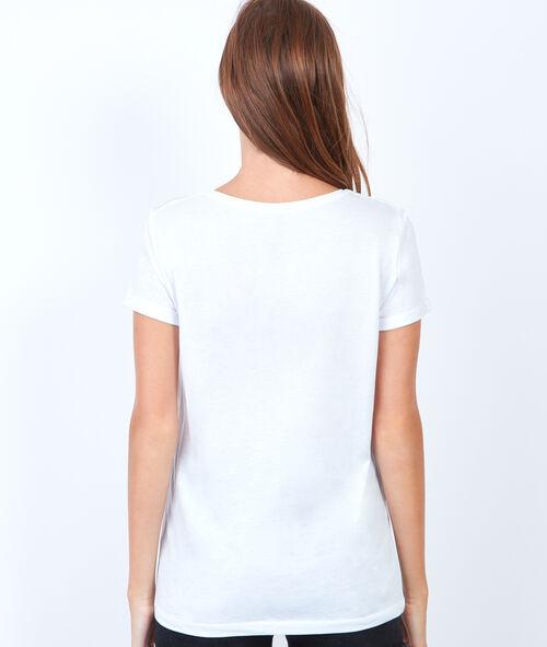 T-shirt manches courtes, imprimé oiseau