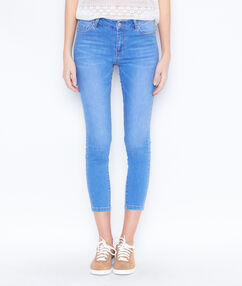 Pantacourt skinny en jean medium denim.