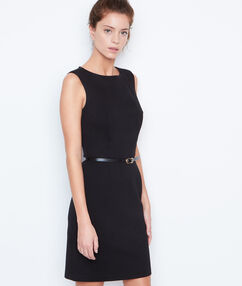 Belted dress black.