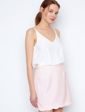 Structured skirt nude.