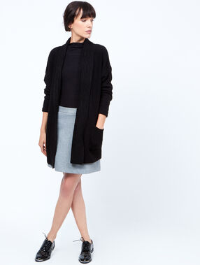 Trapeze skirt black.
