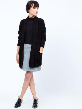 Trapeze skirt black.