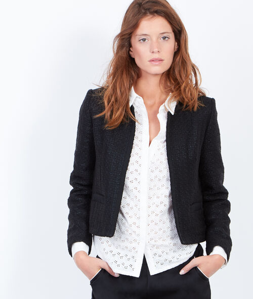Short jacket in jaquard