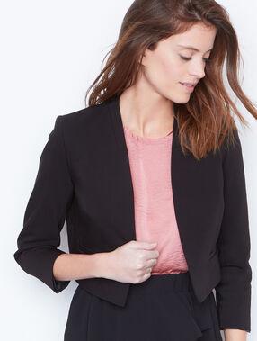 Veste courte noir.