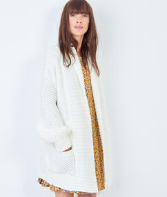Knit jacket white.