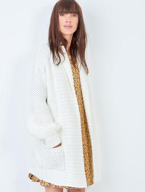 Knit jacket white.