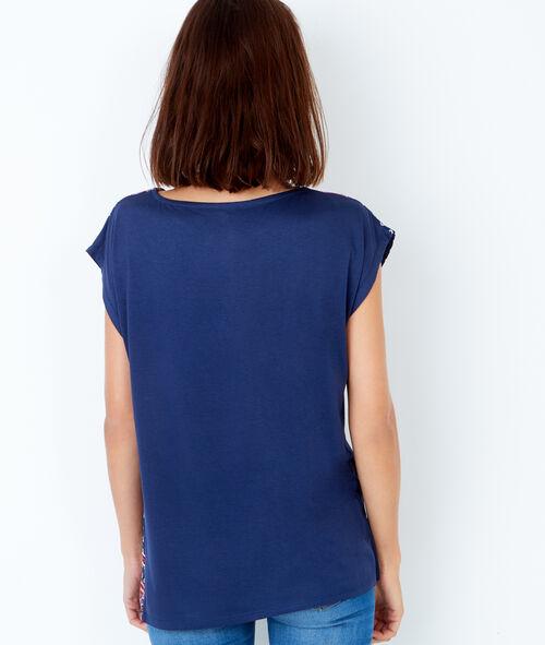 T-shirt manches courtes, imprimé foulard