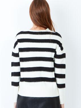 Knit sweater white.