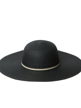 Straw hat black.
