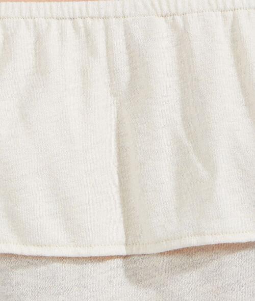 Blusa con detalles de encaje y hombros al descubierto