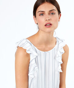 Sleeveless top with knot white.