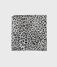 Pañuelo estampado leopardo negro.
