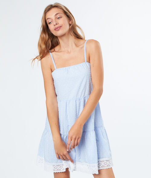 Flared cotton dress