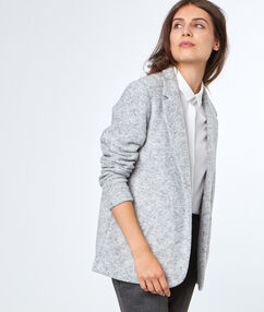 Jacket light grey.