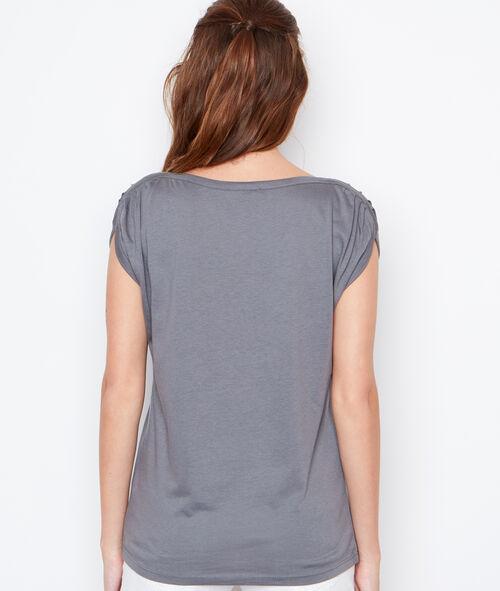 T-shirt imprimé doré