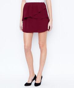 Skirt burgundy.